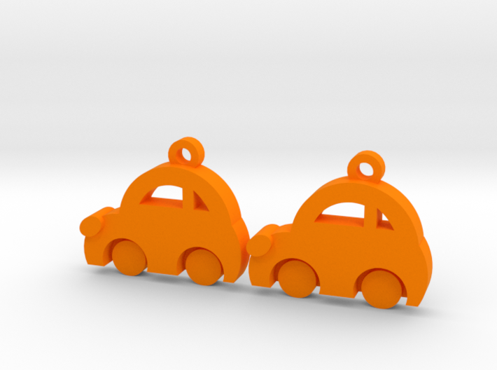 Minicooper Earrings 3d printed