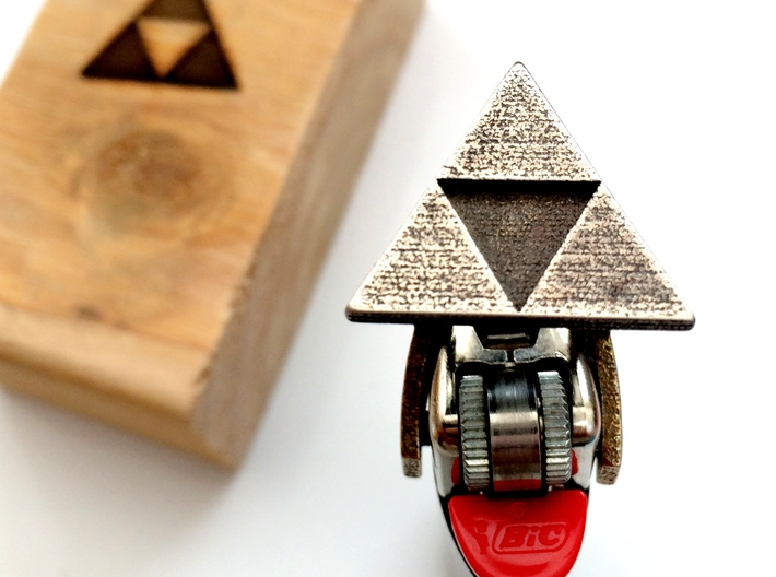 Legend of Zelda - Triforce Lighter Brand 3d printed