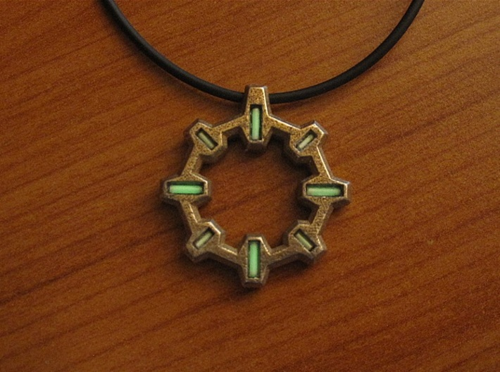''Reactor'' Tritium Pendant 3d printed