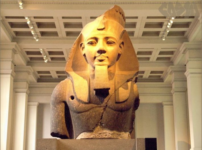 Ramesses II (1279 – 1213 BC), The Colossal Bust of 3d printed Colossal bust of Ramesses II, on display in the British Museum  currently in Room Four