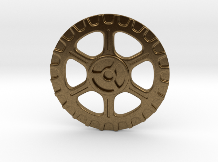 Steampunk Button A 3d printed