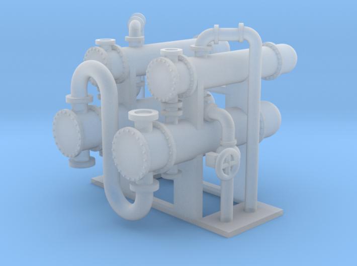 N Scale Heat Exchanger #4 2x2 3d printed