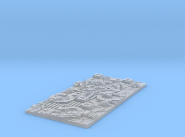 1/2256 Death Star Tiles Half-sheet 3d printed