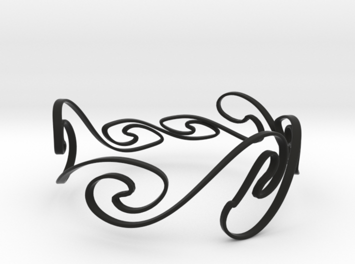 Kelvin-Helmholtz Bracelet #1 - 8'' Wrist 3d printed