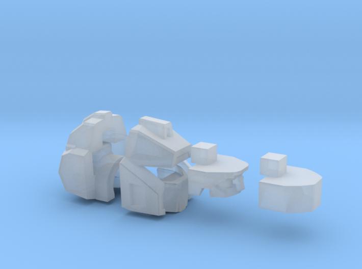 Wide-eyed Idealist Head Combiner Version 3d printed