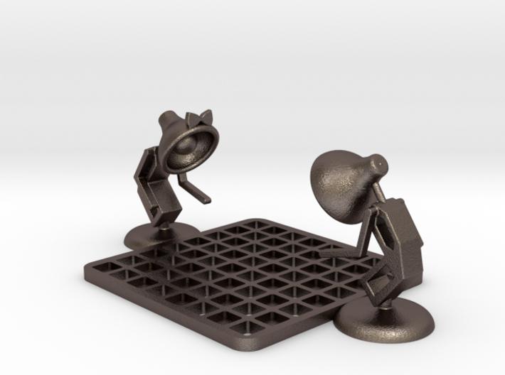 "Lala & Lele, ""Playing chess"" - Desktoys 3d printed"