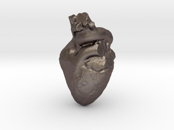 Real Heart Pendant 3d printed