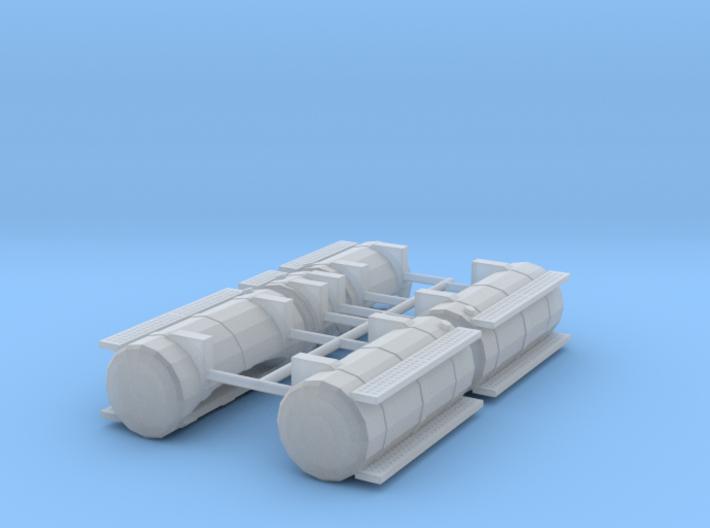 1/50th Australian Road Train Fuel Tank set 3d printed