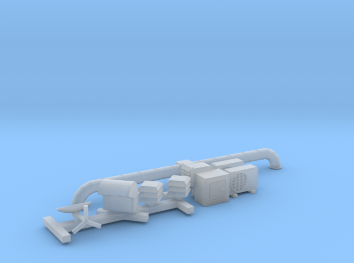 N Scale Firehouse Rooftop Details 3d printed