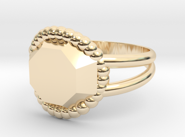 Size 9 Diamond Ring A 3d printed