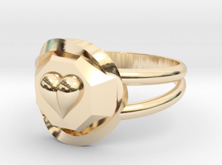 Size 9 Diamond Heart Ring F 3d printed