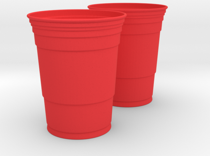 Mini Red Solo Cups 3d printed
