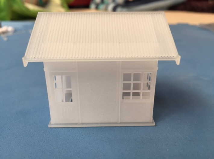 1929 point lever relay hut HO scale  3d printed