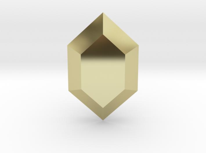 Zelda Rupee 3d printed