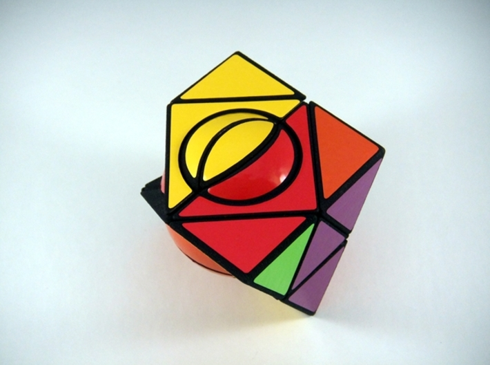 HeliPrism 6 Ball Puzzle 3d printed Three Turns