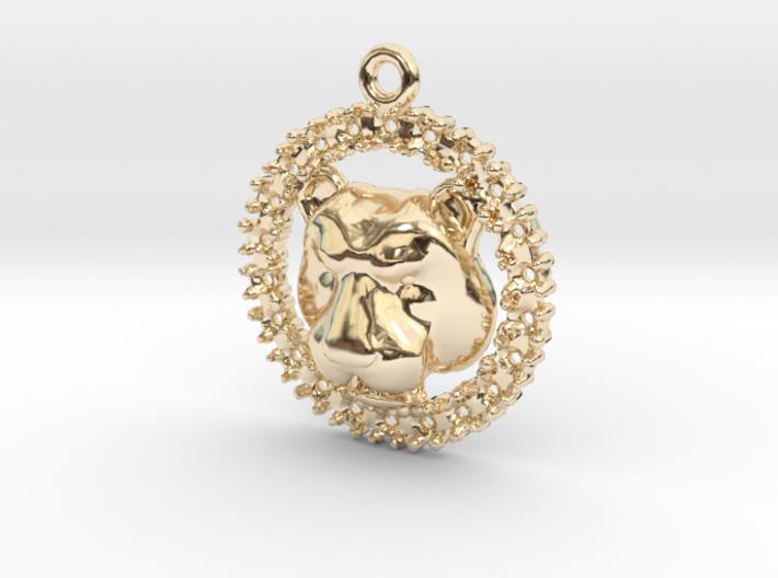 Pendant Lioness 3d printed