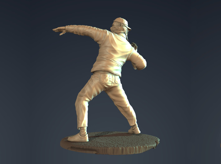 Bansky Inspired 4 inches tall 3d printed