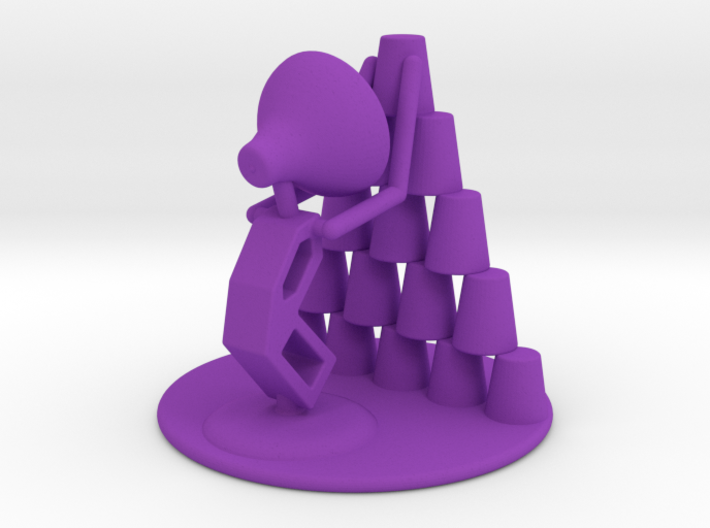 "Juju ""Playing with cups"" - DeskToys 3d printed"