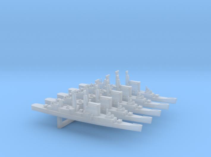 Albany-Class Cruiser x 5, 1/6000 3d printed
