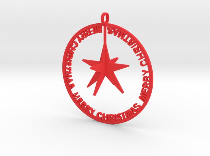 Christmas Ball with stars 3d printed