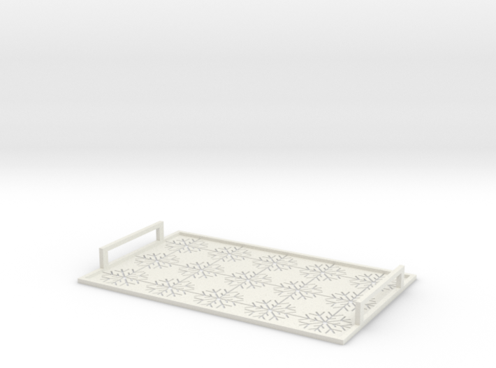 Christmas tray with snowflakes 3d printed