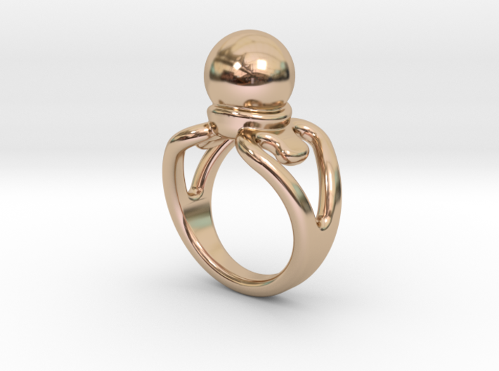 Black Pearl Ring 18 - Italian Size 18 3d printed
