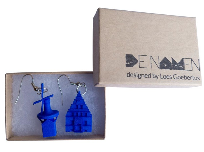 Mill earring Holland 3d printed