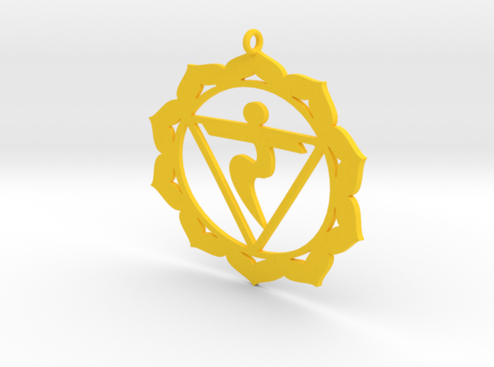 Solar Plexus Chakra Necklace 3d printed