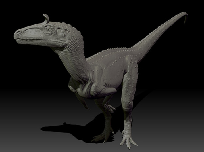 1/40 Cryolophosaurus - Standing 3d printed Zbrush render of Final sculpt