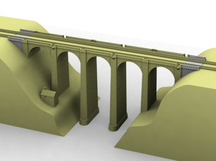 NV2M3 Modular viaduct 2 tracks 3d printed