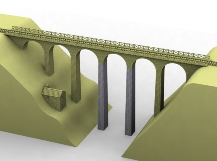NV3M6 Small modular viaduct 1 track 3d printed