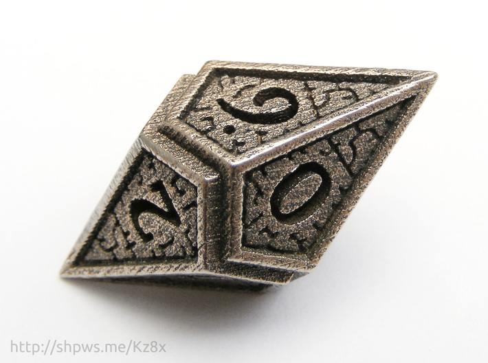 Hedron D10 (v2 open) Spindown - Hollow 3d printed