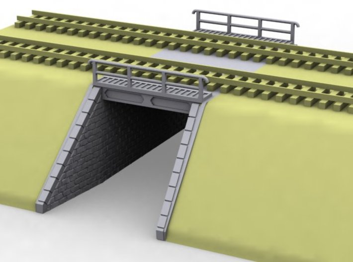 NPTR6 Railway bridges on road 3d printed