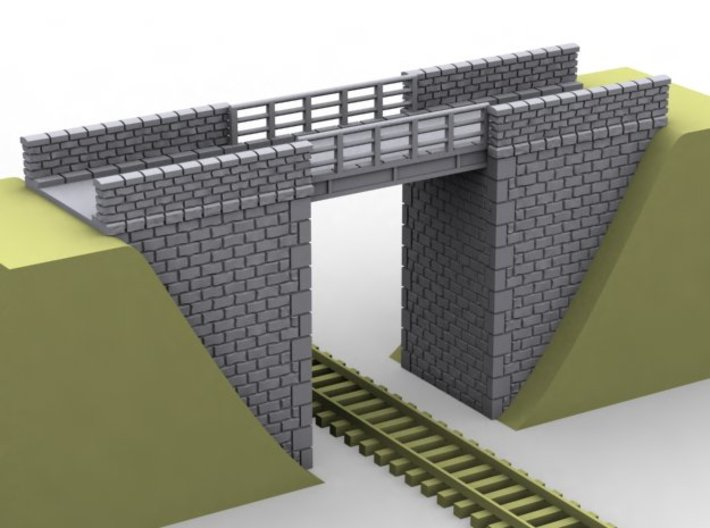 NPRT21 Road bridges over railway 3d printed
