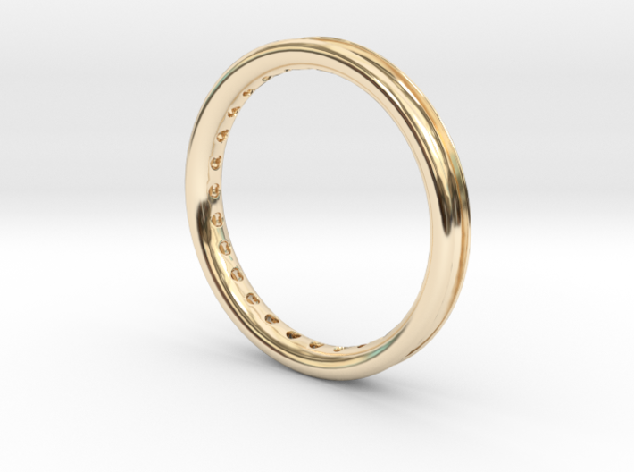 ring with diamonds 3d printed