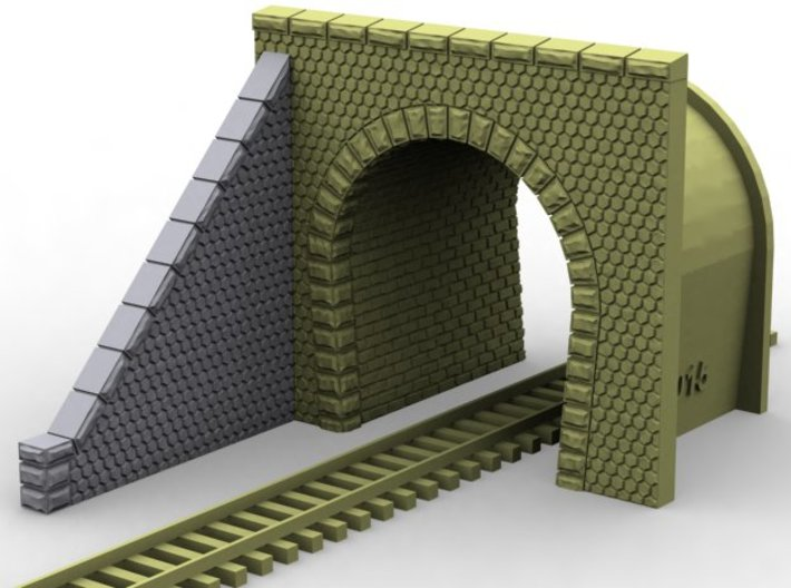 NT32 Tunnel portal for single track 3d printed