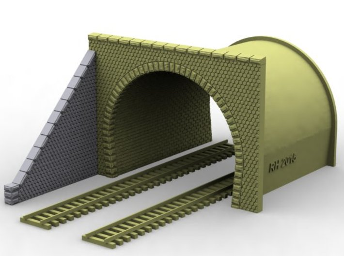NT34 Tunnel portal for double track 3d printed