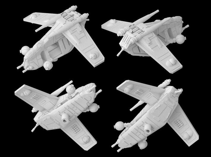 LAAT Republic Gunship (Closed) (1/270) 3d printed