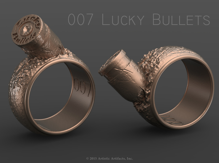 007 Lucky Bullets -Size 8 3d printed