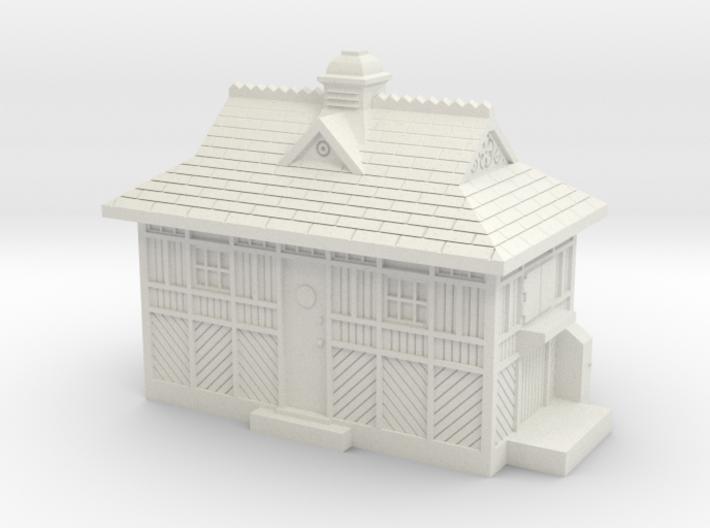 HO/OO Gauge Cabmans Shelter 3d printed