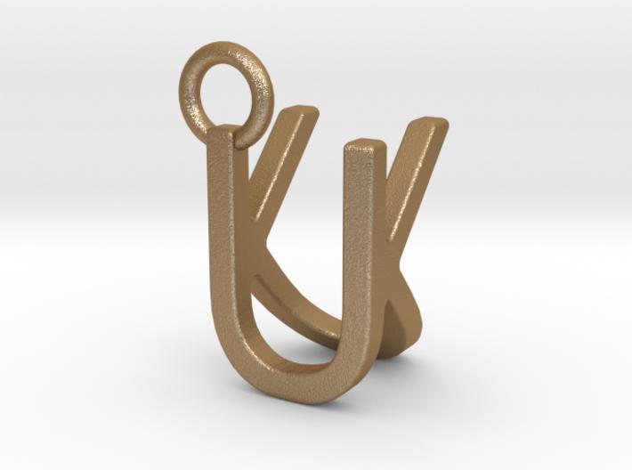 Two way letter pendant - KU UK 3d printed