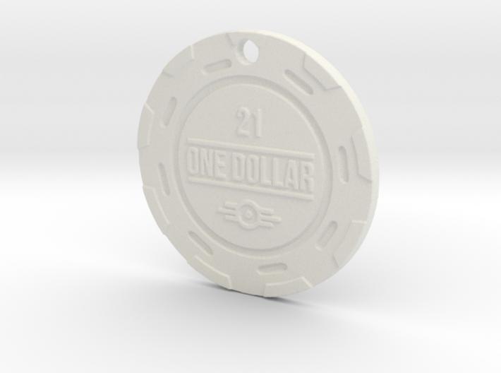 Vault 21 Chip Pendant 3d printed