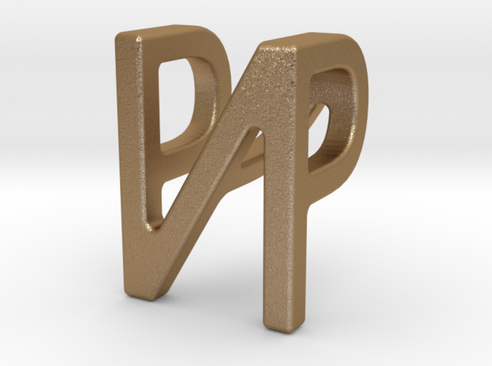 Two way letter pendant - NP PN 3d printed
