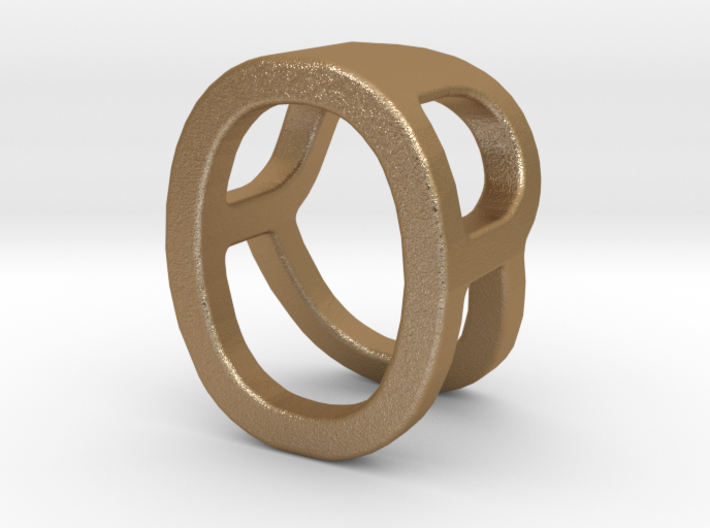 Two way letter pendant - OR RO 3d printed