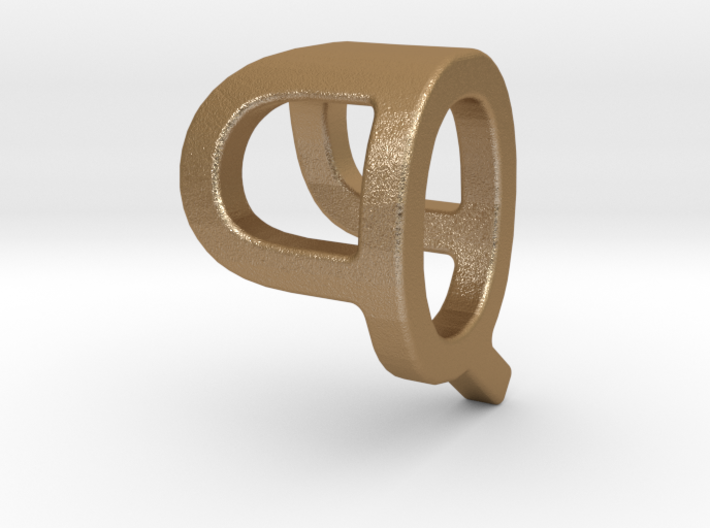 Two way letter pendant - PQ QP 3d printed
