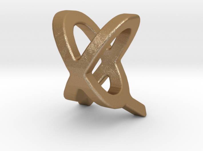 Two way letter pendant - QX XQ 3d printed