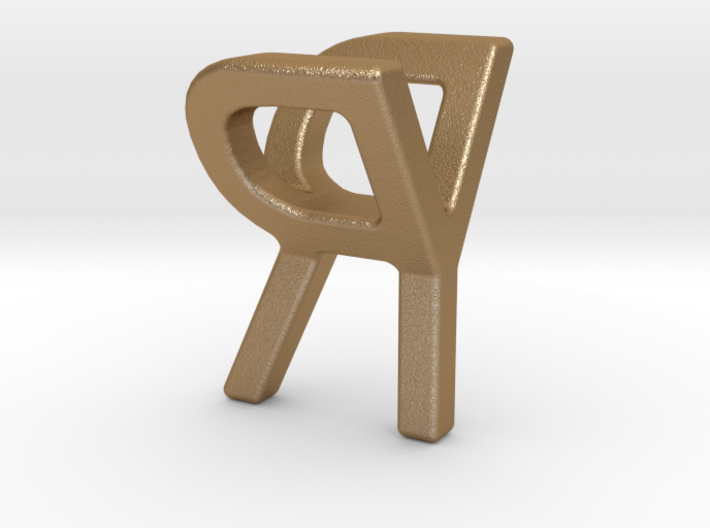 Two way letter pendant - RY YR 3d printed
