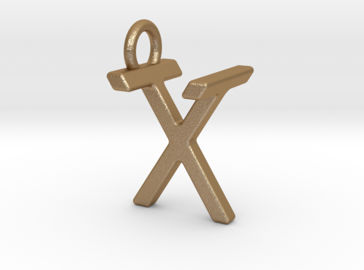 Two way letter pendant - TX XT 3d printed