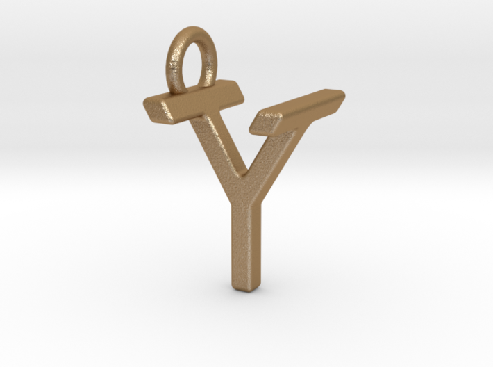 Two way letter pendant - TY YT 3d printed