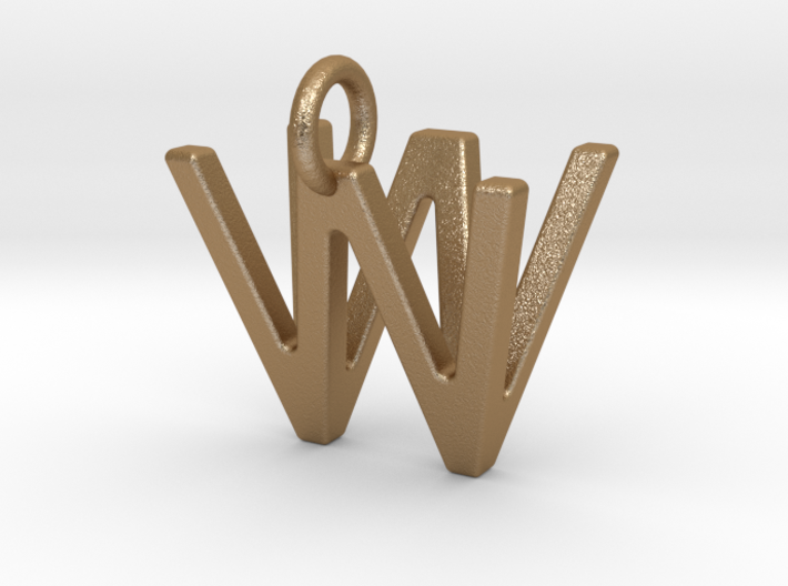 Two way letter pendant - VW WV 3d printed